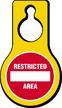 Restricted Area Plastic Door Hang Tag