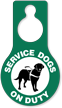 Service Dogs On Duty Door Hang Tag