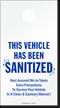 This Vehicle Has Been Sanitized Door Hanger