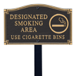 Smoking Area GardenBoss™ Statement Plaque With Stake