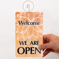 Be Back / Welcome We Are Open Sign