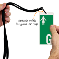 Girl Restroom Hall Passes ID with Symbol