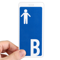 Boy Restroom Hall Passes ID with Symbol