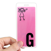 Letter G WithGirl Stick Figure