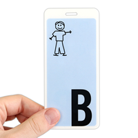 Letter B With Boy Stick Figure