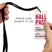 Hall Pass Tag For School