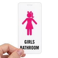 Girls Bathroom, Restroom Hall Pass ID