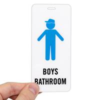 Boys Bathroom Restroom Hall Pass ID