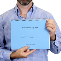 Maintenance Follow-Up Manager Book In Black Color