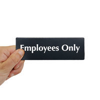 Employees Only DiamondPlate™ Door Sign