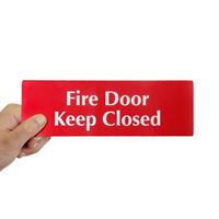 Fire Door Keep Closed,DiamondPlate™ Door Sign