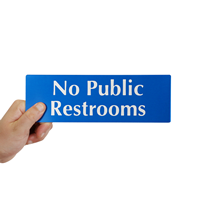 No Public Restrooms, DiamondPlate™ Sign