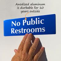 No public restrooms sign