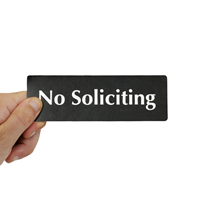 No Soliciting Sign,Door Sign