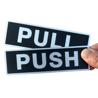 Pull/Push (Horizontal), Set,Door Sign