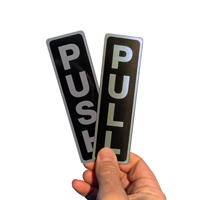 Pull/Push (Vertical), Set, Door Sign
