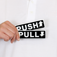 Pull/Push Signs (with arrow graphic), Set