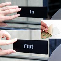 In,DiamondPlate™ Door Sign