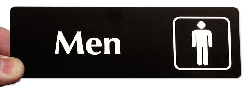Men With Symbol Door Sign