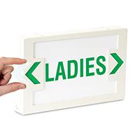Ladies LED Exit Sign