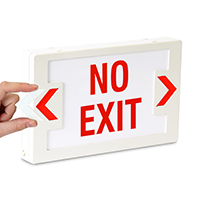 No Exit - Red Lettering,LED Exit Sign