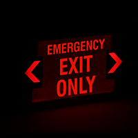 LED Emergency Exit Only Sign With Punch-Out Arrows