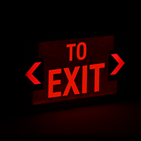 LED To Exit Sign with Punch-Out Arrows