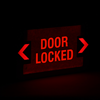 LED Door Locked Exit Sign with Punch-Out Arrows