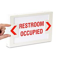 LED Restroom Occupied Exit Sign