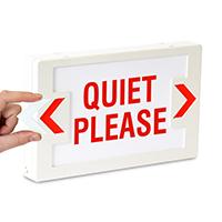 LED Quiet Please Exit Sign