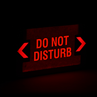 Do Not Disturb LED Exit Sign with Battery Backup