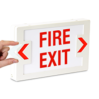 Fire Exit LED Exit Sign with Punch-Out Arrows