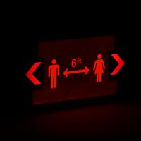 social distancing Handicapped Symbol Exit Sign