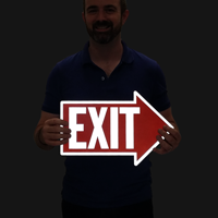 Exit Signs (with Right Arrow Symbol)