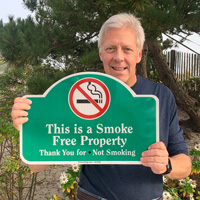 Smoke free property sign