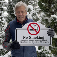 No smoking sign for outdoors
