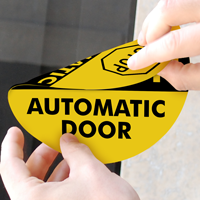 STOP Automatic Door Label