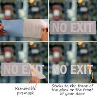 No Exit Vinyl Die Cut Glass Window Decals