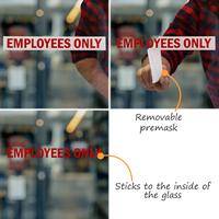 Employees Vinyl Die Cut Glass Window Decals