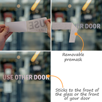 Use Other Door Vinyl Cut Glass Window Decals