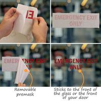Emergency Exit Only Die Cut Glass Window Decals