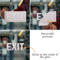 Exit Vinyl Die Cut Glass Window Decals