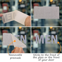 Men Vinyl Die Cut Glass Window Decals
