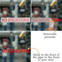 No Soliciting Vinyl Die Cut Glass Window Decals
