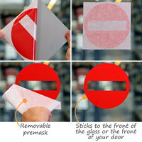 No Exit Symbol Die Cut Glass Door Label