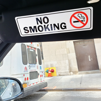 No Smoking Label with symbol