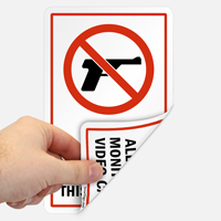 No Firearms Allowed On Property Label