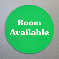 Room Occupied / Room Available Labels
