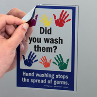 Did You Wash Them, Wash Hands Mirror Decals