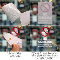 No Smoking Within 25 Feet Window Decal